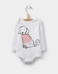 Snazzy Bichon Baby Grow | Joules UK