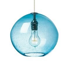 The Isla Pendant Light is a stunning light fixture featuring an irregular round-shaped shade made from hand-blown glass with an organic seeded technique. http://www.ylighting.com/lbl-lighting-isla-pendant-light.html #YinTheWild