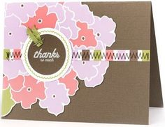 """Nice card idea! """"World Card Making Day has some great tutorials on how to make your own"""" thebestofdiy.com-- I love the colors!"""