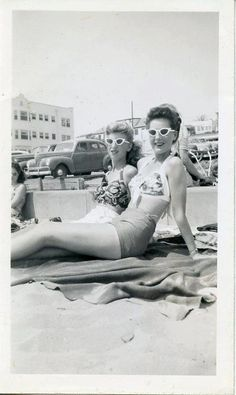At the beach c.1940s