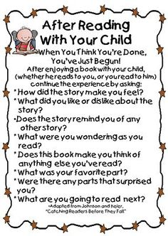 Discussion ideas for parents to talk about books read at home.  FREE printables from First Grade Blog WOW.  Thank you!: