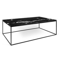 Coffee table black End Tables Gleam Black Marble Top Black Metal Base Modern Rectangular Coffee Table Eurway Modern Coffee Tables Cocktail Tables Eurway Modern