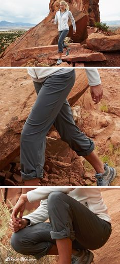 The perfect pants for any adventure, built for wherever adventure takes you. Roll-up legs let you adapt easily to changing environments.