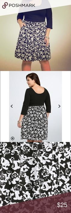 Torrid Felix the Cat Dress with Pockets Beautiful black and white print Felix the Cat dress. Top is solid black stretchy fabric with 3/4 sleeves, bottom printed skirt with awesome pockets. Bought off another posher and its just too big for me 😔 my loss is your gain, perfectly new condition, only tried on never worn torrid Dresses