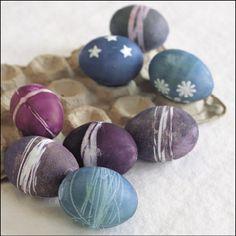 shibori-style dyed eggs
