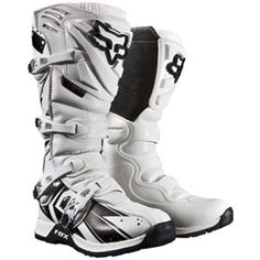 [special_offer]What are the features of Fox Racing Comp 5 Undertow Men's Motocross Motorcycle Boots - White / Size WhiteSize: Racing Comp 5 Underto Atv Boots, Dirt Bike Boots, Dirt Bike Gear, Motorcycle Boots, Dirt Bikes, Fox Racing, Atv Gear, Motocross Gear, Riding Gear