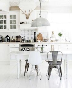 Cocina, silla, productos, Eames, Tolix, industrial