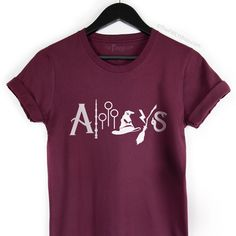 Always Harry Potter Shirt, Harry Potter Fan Shirt, Wizard Tee, HP Logos Tee | The FMLY shop Hp Logo, Always Harry Potter, Harry Potter Shirts, Fan Shirts, Off Colour, Cool Designs, T Shirts For Women, Logos, Tees