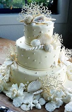 beach themed birthday cakes on pinterest sea shells seashell wedding cakes and beach weddings. Black Bedroom Furniture Sets. Home Design Ideas