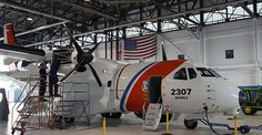 Coast Guard began the process of integrating Minotaur mission system architecture into one of its two HC-144B Ocean Sentry medium range surveillance aircraft at Naval Air Station Patuxent River, Maryland, July 12, 2016. The two HC-144B aircraft have already undergone improvements to their avionics components that will be introduced across the entire HC-144 fleet prior to Minotaur installation. The Minotaur integration process involves taking steps to protect the engine and other components<