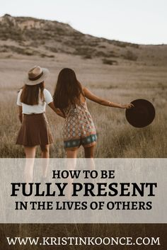 Are you being fully present in the lives of those around you? In this post, I talk about how we can love each other deeply (1 Peter 4:8) by offering our undivided attention. Click through to learn different ways we can be fully present!
