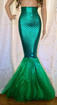 High Waist Fish Scale Green Sexy Mermaid by SPARKLEmeGORGEOUS