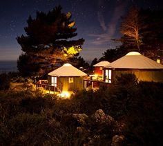 Treebones Resort - Big Sur - CLAMPING.  Glamour Camping