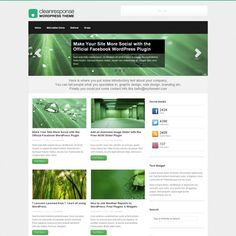 Clean Response is a multi-purpose theme with the choice of two homepages use for business or as a regular blog theme. Best of all, it's Free! You can display a normal magazine and blog style layout on the homepage along with a slider, intro text or you can have a more business style homepage with features widgets (with icons). The theme is responsive which means it looks just as good on a large desk top display, tablet screens and mobile phone screens.
