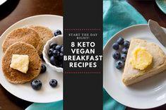 8 Vegan Keto Breakfast Recipes - JackSlobodian Vegan Keto Recipes, Vegan Sauces, Avocado Recipes, Vegan Breakfast Recipes, Peanutbutter Smoothie Recipes, Peanut Butter Smoothie, Scrambled Tofu Recipe, Keto Granola, Vegan Meal Plans
