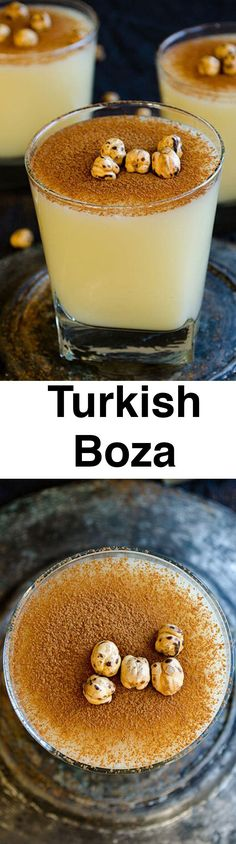 Turkish Boza is a smoothie like fermented drink that is mainly based on bulgur and yeast. It has a sweet and tangy flavor that everyone finds addictive!