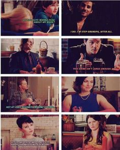 I'd pay so much money to see this. Once Upon A Time: home to the most dysfunctional family ever. #charming's thanksgiving nightmare