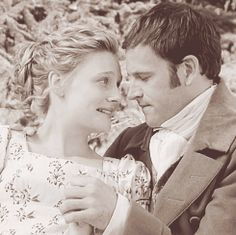 Emma (Romola Garai) and Mr. Knightley (Jonny Lee Miller) in Emma by Jane Austen…
