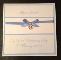 Handmade Christening Card -Personalised