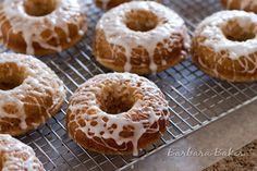 Baked Lemon Donuts!  Light & fluffy with Lemon Chobani Greek yogurt with a tart lemon glaze~