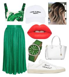 """Untitled #25"" by frid1445 on Polyvore featuring Gucci, Yves Saint Laurent, Dolce&Gabbana, Simplify, Nasaseasons, Michael Kors and Lime Crime"