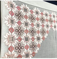 Tammy Jarosz's media content and analytics Hardanger Embroidery, Ribbon Embroidery, Embroidery Stitches, Russian Cross Stitch, Cross Stitch Heart, 3d Origami Tutorial, Embroidered Leaves, Drawn Thread, Tatting Patterns