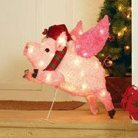 Outdoor Christmas Decorations | Walmart Canada Indoor Christmas Decorations, Outdoor Christmas, White Christmas, Christmas Holidays, Christmas Ornaments, Holiday Decor, Flying Pig, Holiday Time, Holiday Festival