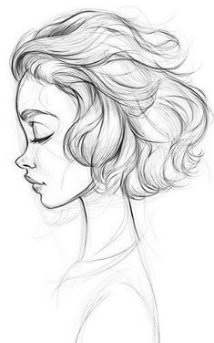 Girl Drawing Sketches, Girly Drawings, Dark Art Drawings, Art Drawings Sketches Simple, Pencil Art Drawings, Cartoon Drawings, Cool Drawings, Pencil Sketches Simple, Drawings Of Girls