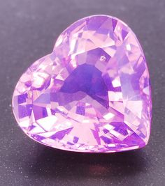 Very light purple Spinel heart weighing 2.51cts, from Tunduru, Tanzania