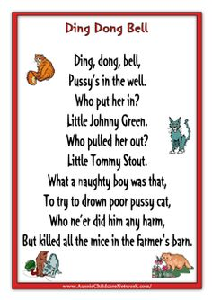 Rhymes Worksheets Ding Dong Bell