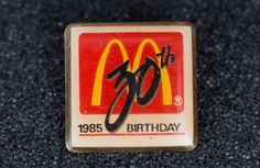 Mcdonald's 30th 1985 Birthday Vintage Tack Pin by MichaelPMoriarty on Etsy