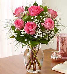 Lovely Pink Roses Bouquet.