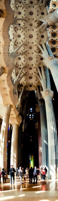 Gaudi, Sagrada Familia, Barcelona, Spain. Still under construction. Completion ETA: 2026