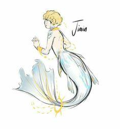 Park Jimin a.a Jimin Jimin Fanart, Kpop Fanart, Yoonmin, Bts Bangtan Boy, Bts Jimin, V Chibi, Kpop Drawings, Bts Fans, Mermaid Art