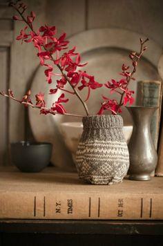 winterdeko ideen selber machen vase verkleiden zweig
