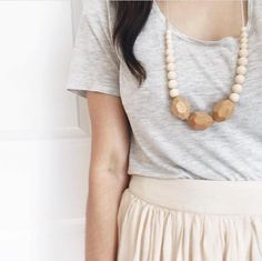 The Austin- Cream Teething Necklace | Chewable Charm www.chewablecharm.com