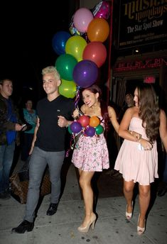 Ariana Grande Photos - HAPPY BIRTHDAY! Pretty starlet from Nickelodeon sitcom 'Victorious', Ariana Grande celebrates her 19th birthday with her co-stars and friends at Eleven restaurant in West Hollywood. The red-haired actress and her friends performed karaoke whilst inside the venue, which is popular amongst its gay community. Ariana is currently dating 'Hunger Games' heartthrob Josh Hutcherson. However, the actor was nowhere to be seen at miss Grande's birthday shenanigans. - HAPPY…