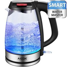 Premium Fast Boil Electric Kettle Marble Effect Design Cordless 2200W 1.8L WHT