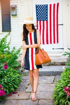 Classy Girls Wear Pearls: Oh I'm an American Girl Preppy Mode, Preppy Girl, Preppy Style, My Style, Sarah Vickers, Classy Girl, 4th Of July Outfits, Fashion Line, Classic Fashion
