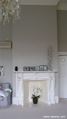 Resene Quarter ash on lounge walls