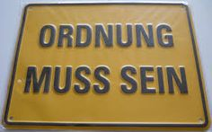 Image result for ordnung muss sein