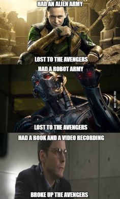 Only mortal can defeat the Avengers