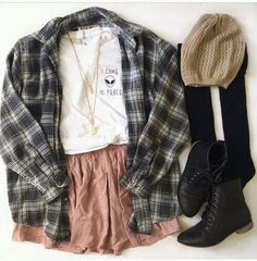 how about this look for hanging out? Hipster Fashion, Grunge Fashion, Teen Fashion, Fashion Outfits, Hipster Stil, Hipster Grunge, Fall Outfits, Cute Outfits, Hipster Outfits