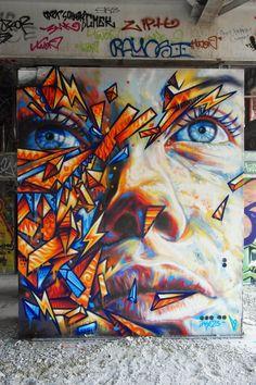 David Walker and street art Street Art News, 3d Street Art, Street Art Graffiti, Street Artists, David Walker, Best Graffiti, Graffiti Murals, Grunge Art, Land Art