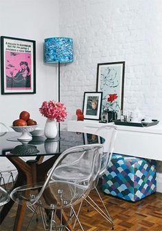 Sala de Jantar Cadeiras Transparentes =)!