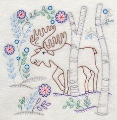 Winter Woodland Moose (Vintage)