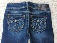SILVER JEANS SALE New Low Rise Distressed Pioneer Bootcut Jean 26,27,29,31,34 #SilverJeans #BootCut