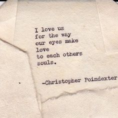 """Romantic Universe"" series poem #16 Christopher Poindexter"