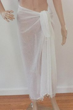 17d5bd6101 Sarong Cover Up Bathing Suit Wrap in Solid by TrudyClaireDesigns Wrap  Bathing Suit, Bathing Suits