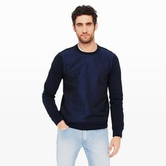 Panel-Front Crew - Activewear Men at Club Monaco